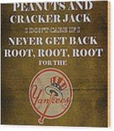 Yankees Peanuts And Cracker Jack  Wood Print