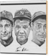 Yankees Wood Print