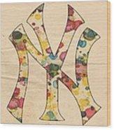 Yankees Vintage Art Wood Print