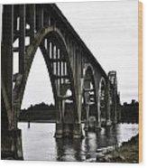 Yaquina Bay Bridge - Series D Wood Print