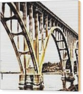 Yaquina Bay Bridge - Series G Wood Print