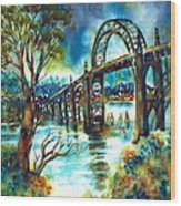 Yaquina Bay Bridge Wood Print