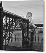 Yaquina Bay Bridge Wood Print by Benjamin Yeager