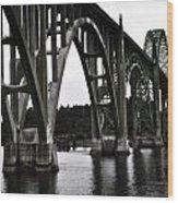Yaquina Bay Bridge - Series J Wood Print