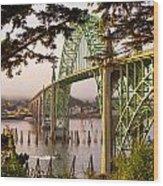 Yaquina Bay Bridge Morning Light Wood Print