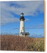 Yaquina Bay Lighthouse In Oregon Wood Print