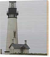 Yaquina Head Light  Wood Print