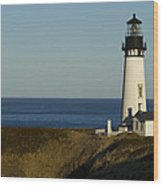 Yaquina Head Lighthouse 4 D Wood Print