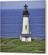 Yaquina Historic Lighthouse Wood Print