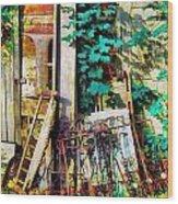 Yard Sale Antiques - Horizontal Wood Print