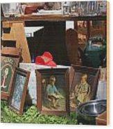 Yard Sale Wood Print