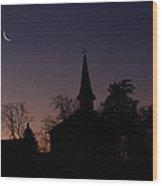 Yarmouth Church Moon Wood Print