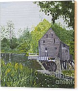 Yates Mill Summer Wood Print
