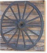 Yates Mill Wagon Wheel Wood Print by Kevin Croitz