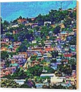 Yauco On The Hill Wood Print