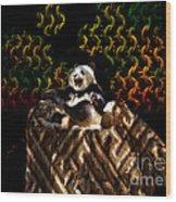 Yawning Panda  Wood Print