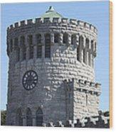 Ye Old Castle Clock Tower Wood Print
