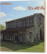 Ye Old Homestead Wood Print