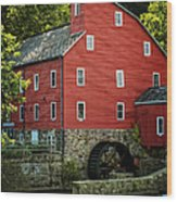 Ye Old Red Mill Wood Print by Wayne Gill