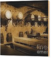 Ye Old Wine Cellar In Tuscany Wood Print by John Malone