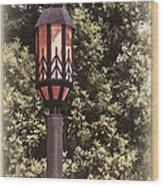 Ye Olde Street Lamp Wood Print
