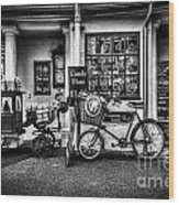 Ye Olde Sweet Shoppe Mono Wood Print
