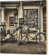 Ye Olde Sweet Shoppe Sepia Wood Print
