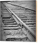 Ye Olde Tracks Wood Print