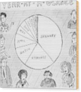 Year At A Glance--a Pie Chart Of The Months Wood Print