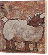 Year Of The Ram  Wood Print