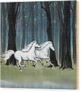 Year Of The Wood Horse Wood Print