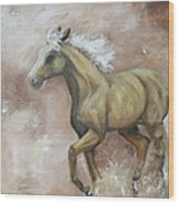 Yearling In Storm Wood Print