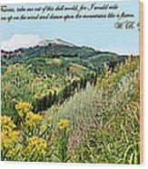 Yeats Wood Print