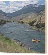 Yellowstone River  Wood Print