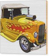 Yellow 1928 Hotrod Pickup Truck  Wood Print