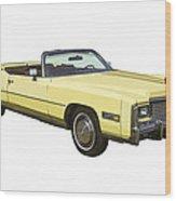 Yellow 1975 Cadillac Eldorado Convertible Wood Print