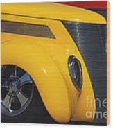 Yellow '37 Wood Print