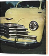 Yellow 47 Chevrolet Wood Print