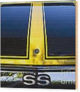 Yellow '71 Ss Wood Print