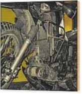 Yellow And Metal Wood Print
