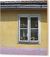 Yellow And Pink Facade. Belgrade. Serbia Wood Print