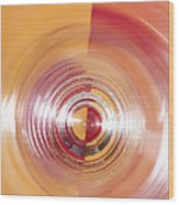 Yellow And Red Abstraction Wood Print
