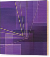 Yellow Angles Through Purple Landscape Wood Print