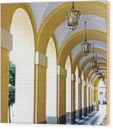 Yellow Arches Wood Print