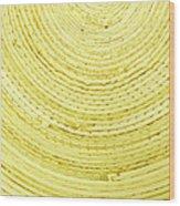 Yellow Arcs Wood Print