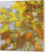 Yellow Autumn Wood Print
