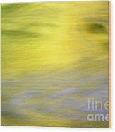 Yellow Autumn Reflections Wood Print