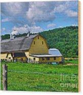 Yellow Barn Wood Print