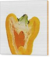 Yellow Bell Pepper Wood Print