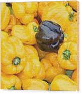 Yellow Bell Peppers Wood Print
